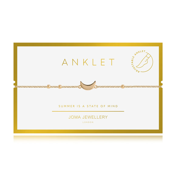 Joma Jewellery Anklet Yellow Gold Moon