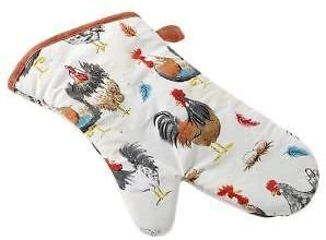 Stow Green Green Rooster Cockerel Gauntlet,100% Cotton With Polyester Quilting,Hanging Loop