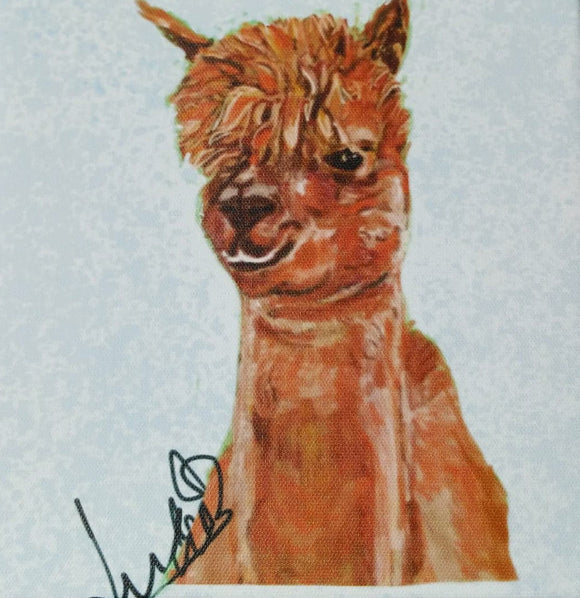 Alpaca Head Print on Canvas by Lisa WB