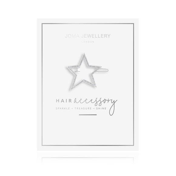 Joma Jewellery Hair Accessory Silver Pave Star Clip - Gifteasy Online