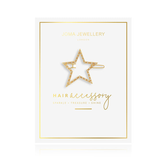 Joma Jewellery Hair Accessory Gold Pave Star Clip - Gifteasy Online