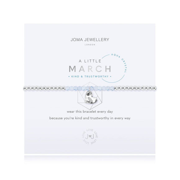 Joma Jewellery A LITTLE BIRTHSTONE MARCH AQUA CRYSTAL