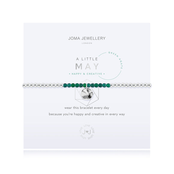 Joma Jewellery A LITTLE BIRTHSTONE MAY GREEN AGATE