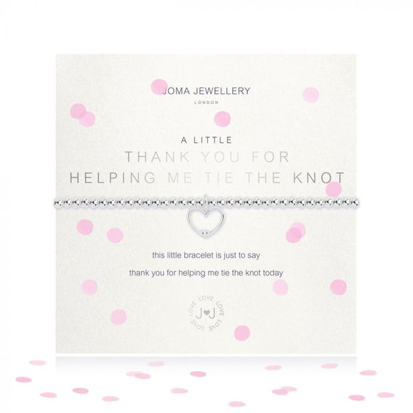 Joma Jewellery A Little Thank You for Helping Me Tie The Knot Bracelet