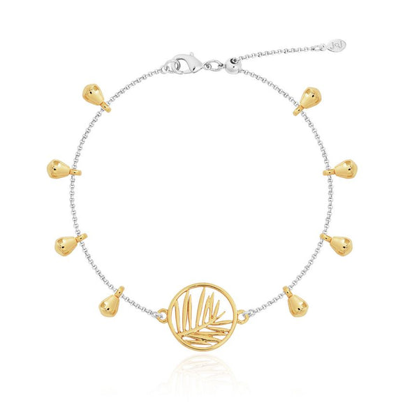 Joma jewellery Anklet Gold `Palm