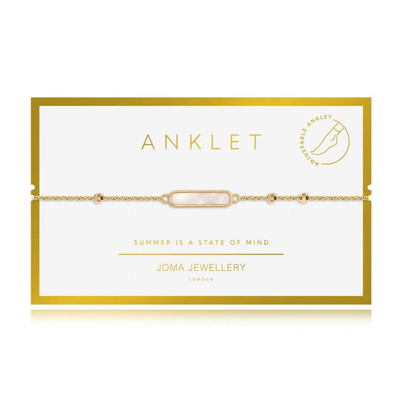 Joma Jewellery Anklet gold Shell