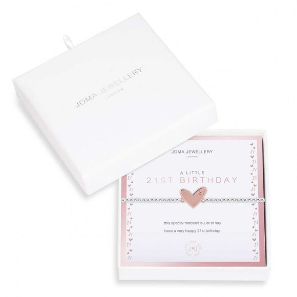 Joma Jewellery Beautifully Boxed A Little 21st Birthday Bracelet