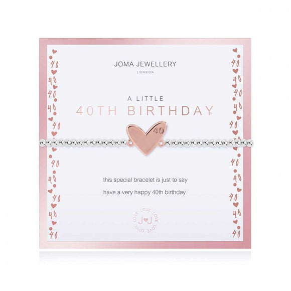 Joma Jewellery Beautifully Boxed A little Happy 40th Birthday