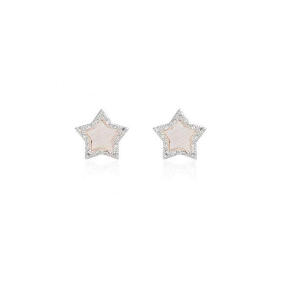 Joma Jewellery Pearlina Mother Of Pearl Star Stud Earrings