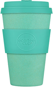 Ecoffee Cup: Inca with Turquoise Silicone 14oz, Reusable and Eco Friendly Takeaway Coffee Cup - Gifteasy Online