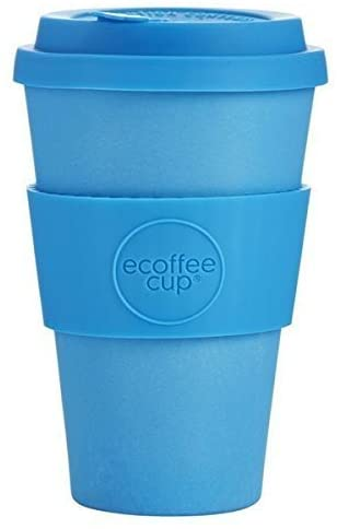Ecoffee Cup: Toroni with Aqua Silicone 14oz, Reusable and Eco Friendly Takeaway Coffee Cup