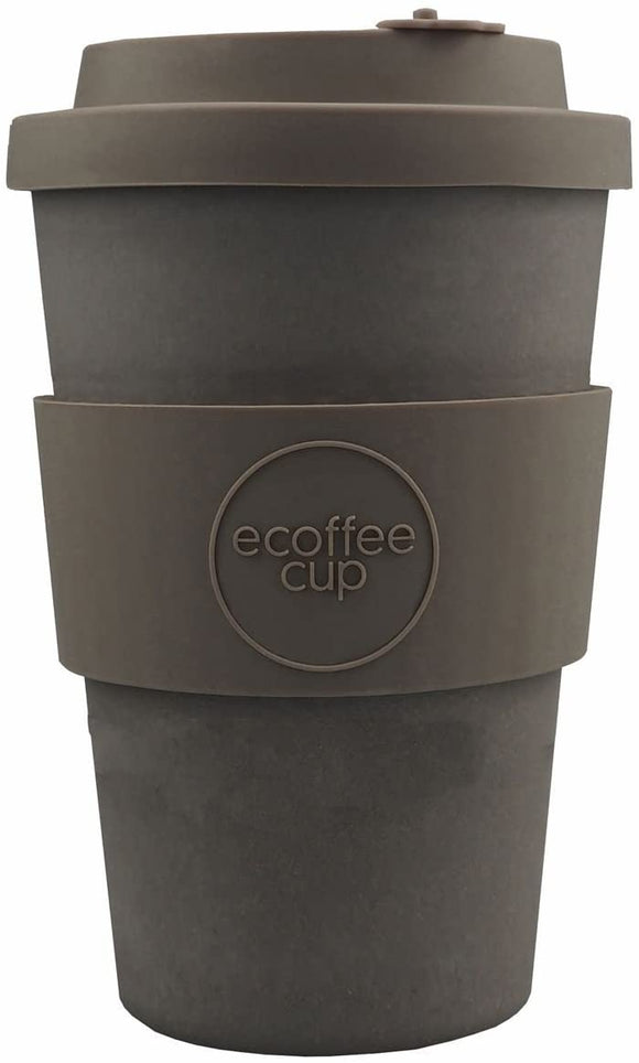 Ecoffee Cup: Molto Grigio with Grey Silicone 12oz, Reusable and Eco Friendly Takeaway Coffee Cup