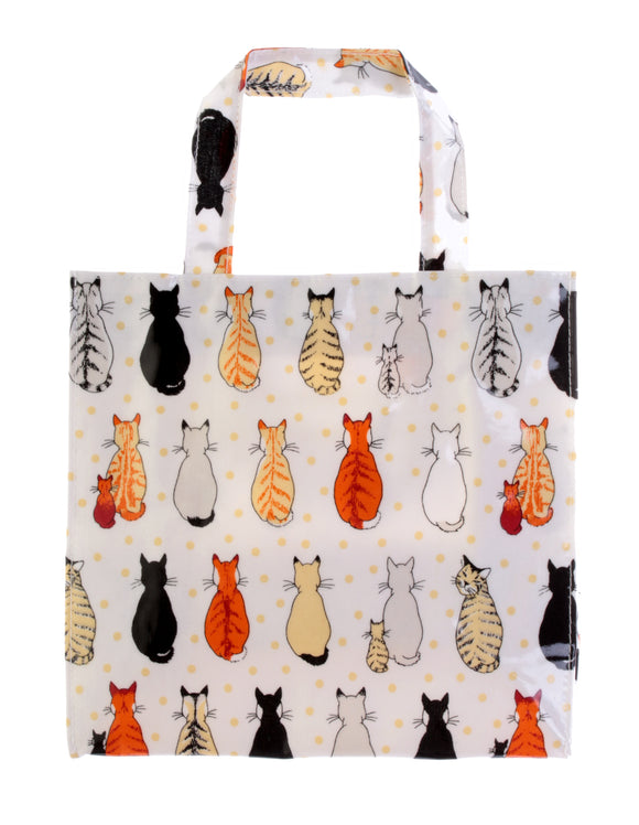 gifteasyonline - PVC Small Gusset Bag Cats Waiting by Ulster Weavers - Ulster Weavers - Bag