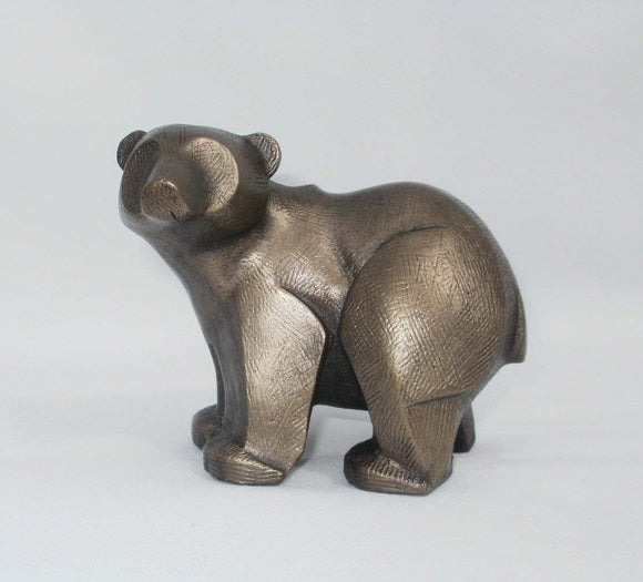 Frith Sculpture Polar Bear Cub by Adrian Tinsley in cold cast bronze -AT003
