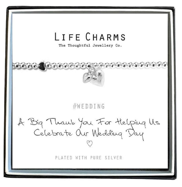 Life Charms Thank you for helping us to celebrate our Wedding Day - Gifteasy Online