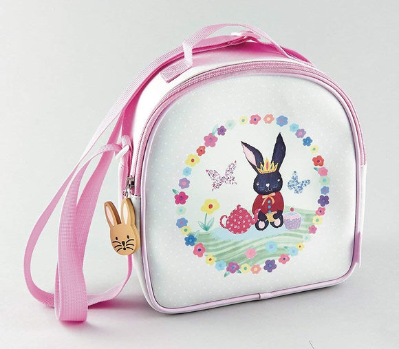 Floss & Rock Bunny Rabbit Lunch Bag with Detachable Strap and Drinks Holder