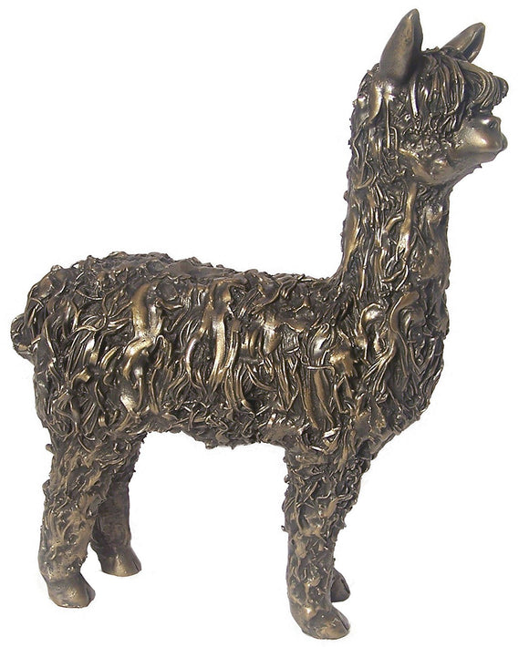 Frith Alpaca Standing Sculpture 27cm Statue Figurine Cast Collectables by Veronica Ballan (VB002)