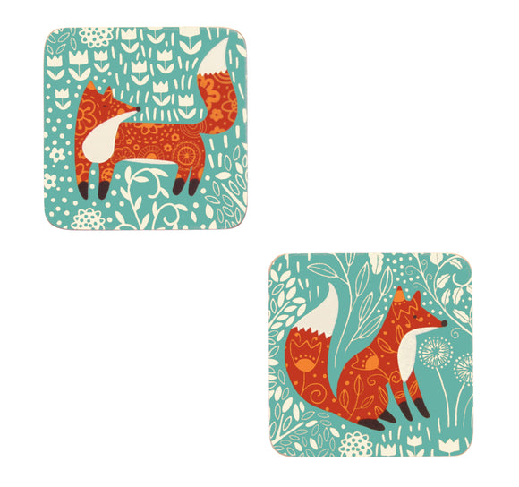 Foraging Fox Coasters by Ulster Weavers Pack of 4 - Gifteasy Online