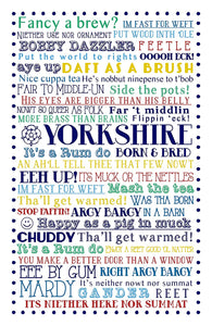 "Ulster Weavers 29.1""x18.9"" Yorkshire Born & Bred Cotton Tea Towel - Gifteasy Online"
