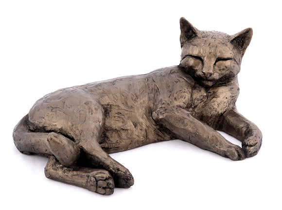 Frith Cold Cast Bronze Polly Contented Cat by Paul Jenkins