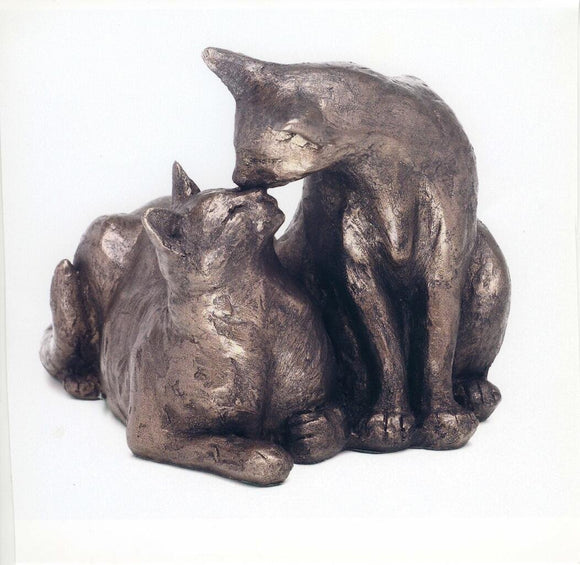 Felix and Oscar' Bronze Cat Sculpture by Paul Jenkins