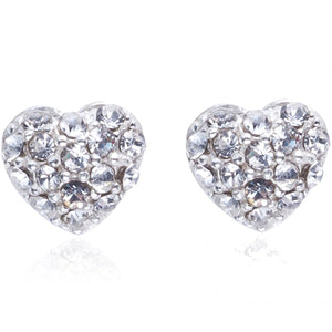 gifteasyonline - Joma Jewellery Lou Lou Pave Heart Silver Earrings - Joma Jewellery - Joma Jewellery
