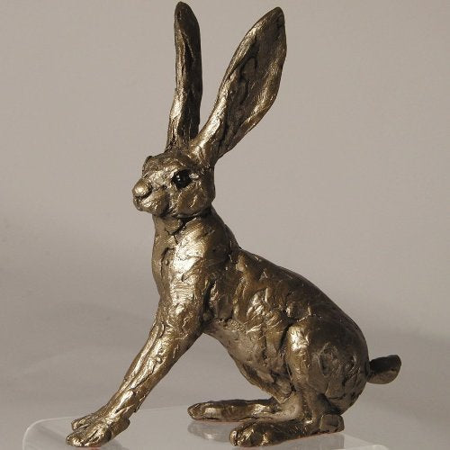Ted Hare Alarmed Bronze sculpture 16cm - sculptor Thomas Meadows - Frith