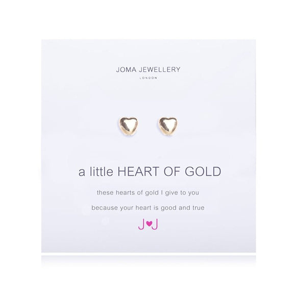 A little Heart Of Gold Earrings By Joma jewellery