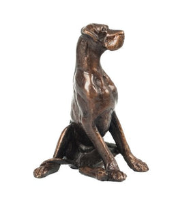 gifteasyonline - Dog Sitting Solid Hot Cast Bronze Sculpture Signed - Frith - Frith
