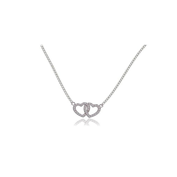 Heart to Heart Necklace By Joma Jewellery - Gifteasy Online