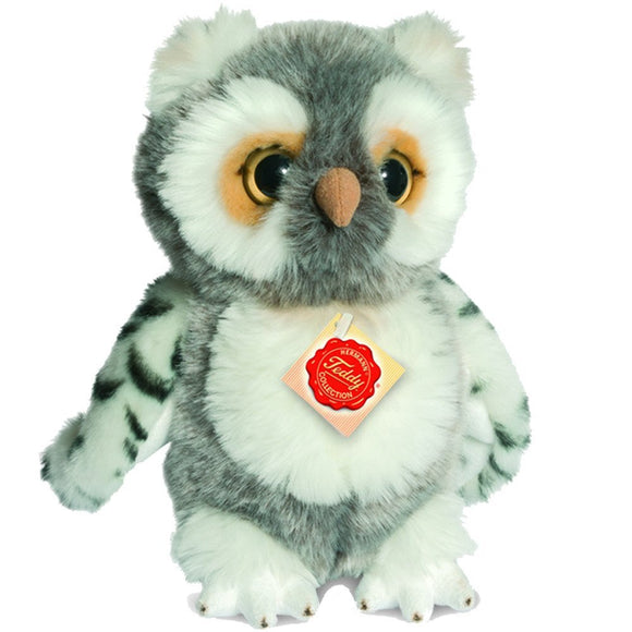 gifteasyonline - Hermann Teddy Collection 941408 22 cm Grey Owl Plush Toy - Hermann Teddy Collection - Hermann Teddy Collection