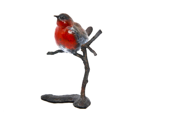 Hot Cast Solid Bronze Multi Patna Robin on Branch