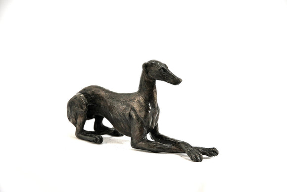 Unique Bronze Hot Cast Solid Bronze Greyhound Lying Cross Legged - Gifteasy Online