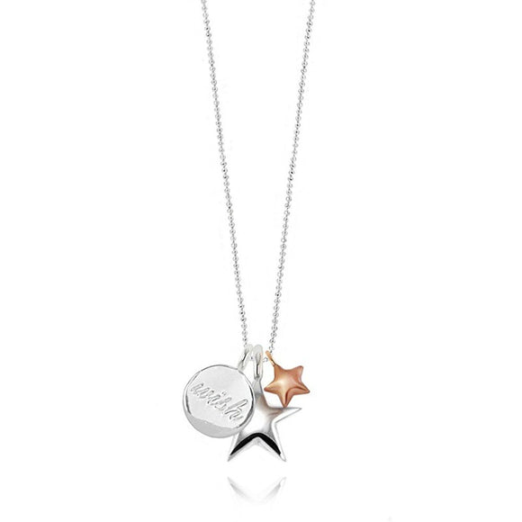 Three Wish Charm Long Necklace - Gifteasy Online