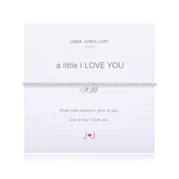 Joma Jewellery - A Little I Love You - Bracelet - Three Silver Hearts