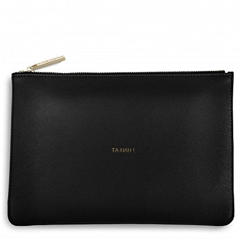 Katie Loxton Women's Ta Dah Clutch Bag, Black, 24 X 16-cm