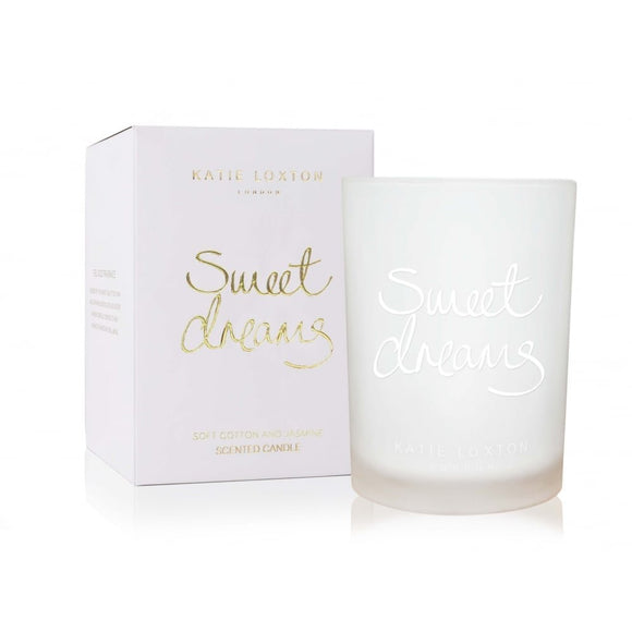 gifteasyonline - Sweet Dreams - Soft Cotton And Jasmine Candle - Katie Loxton - Katie Loxton
