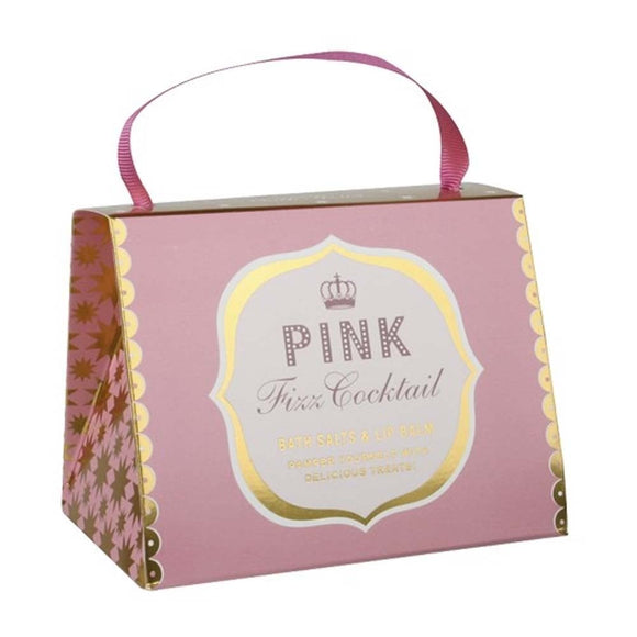 Pink Fizz Cocktail Bath House Handbag Pamper Set