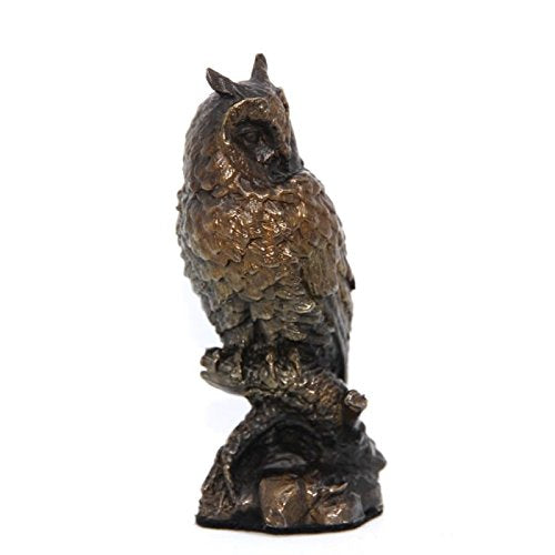gifteasyonline - Solid Bronze Long Eared Owl - Unique Bronze - Unique Bronze