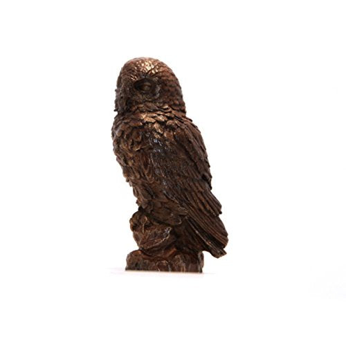 Unique Bronze Hot Cast Solid Bronze Snowy Owl - Gifteasy Online