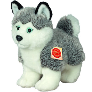 Hermann Teddy Collection 927013 23 cm Husky Standing Plush Toy - Gifteasy Online