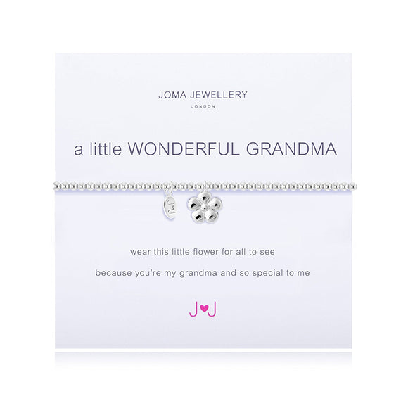 gifteasyonline - A Little Wonderful Grandma Bracelet in Silver By Joma Jewellery - Joma Jewellery - Joma Jewellery