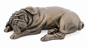 Arnie Pug Sleeping Cold Cast Bronze Dog by Harriet Dunn - Gifteasy Online