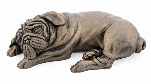 Arnie Pug Sleeping Cold Cast Bronze Dog by Harriet Dunn