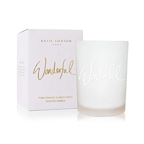 Katie Loxton - Wonderful Candle - Pomegranate and Sweet Apple