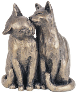 YUM YUM & FRIEND Bronzed Cats Sculpture by Paul Jenkins by Frith Sculpture - Naturally. Cats Sculpture. - Gifteasy Online
