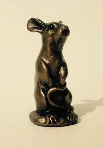 gifteasyonline - NEWLY RELEASED Frith Sculpture WOODY MOUSE SITTING UP in cold cast bronze - S188 - Frith - Frith