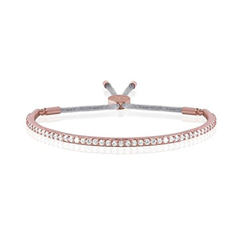 gifteasyonline - Joma Jewellery - Pave Message Bangle - Rose Gold with Silver Crystals - Joma Jewellery - Joma Jewellery