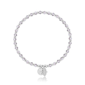 Belief Bracelet with Silver Crystals and Balls By Joma Jewellery - Gifteasy Online