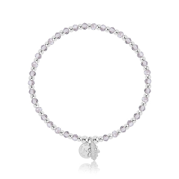Joma Belief Bracelet with silver crystals and balls.
